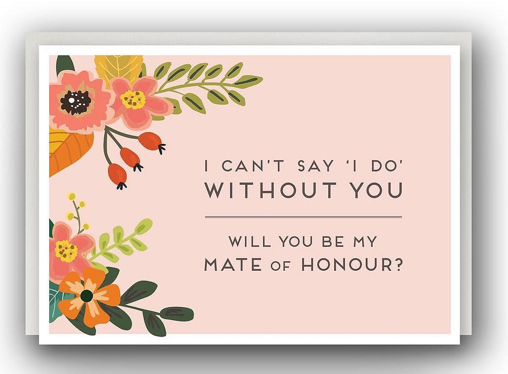 LGBTQ Equality Weddings sells a fab range of gender neutral stationery. You don't have to push your friends into gendered roles that make them uncomfortable to involve them in your wedding.