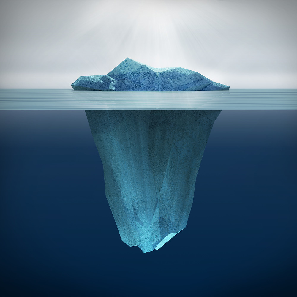 The proverbial tip of the iceberg...