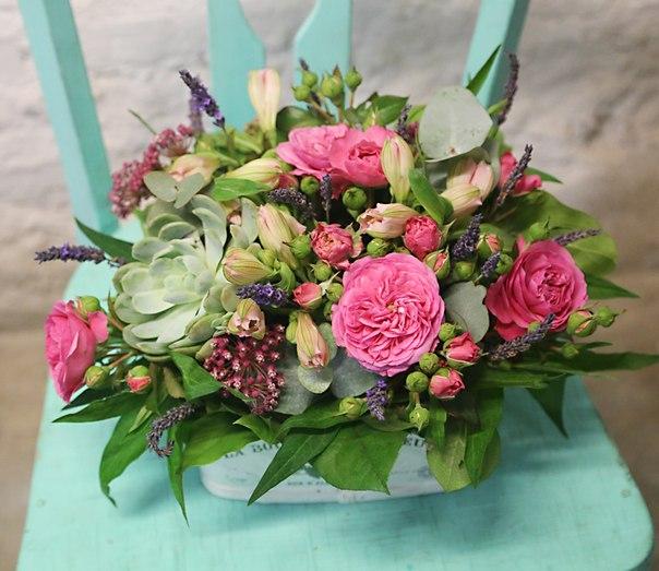 цветочная композиция в офис