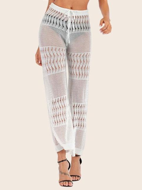 Aquaholic Crochet Pants