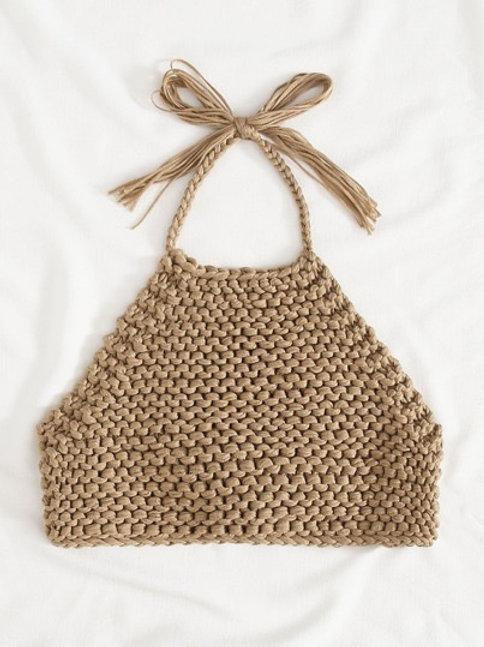 Just Vibe Crochet Crop