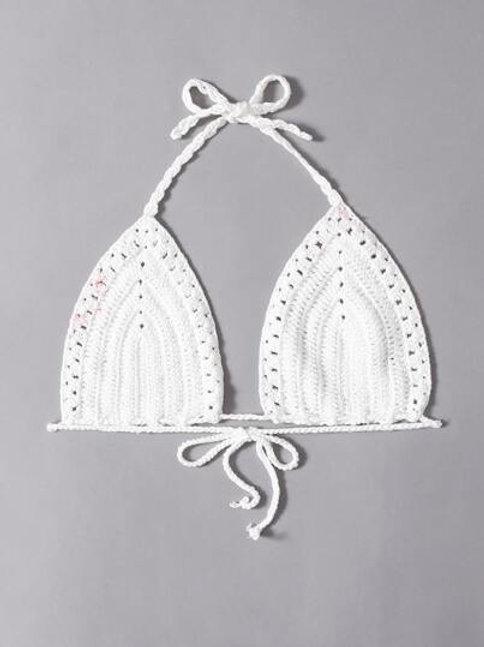 Clear Water Crochet Bralette