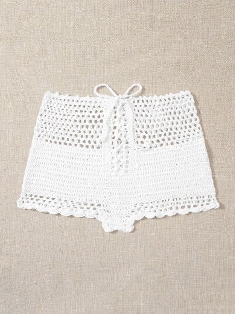 Baja Sur Crochet Shorts