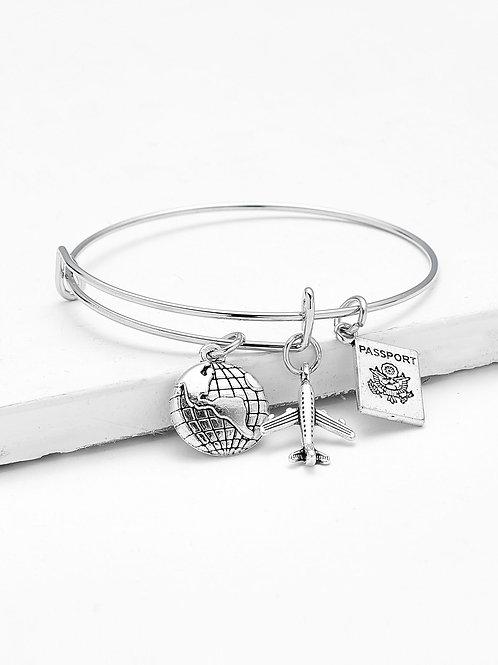 Let's Travel Charm Bracelet