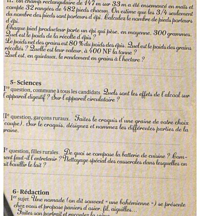 le certif en 1959