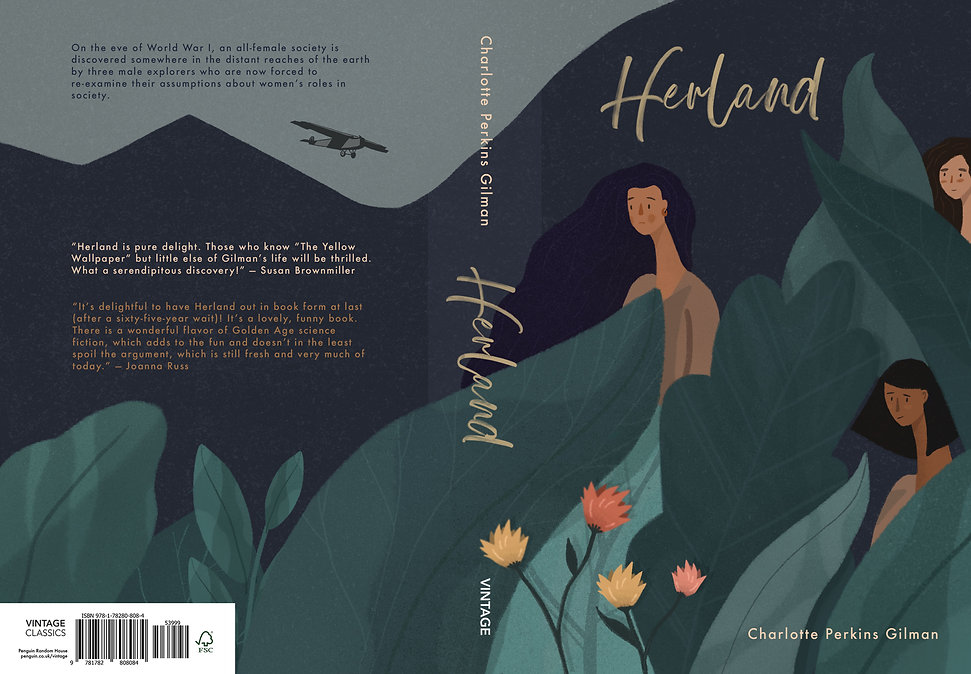 Herland book cover lou kiss
