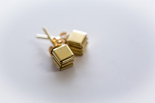 18ct gold FoldedStuds