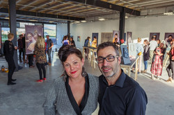 Jess and Paul at the unloosed opening