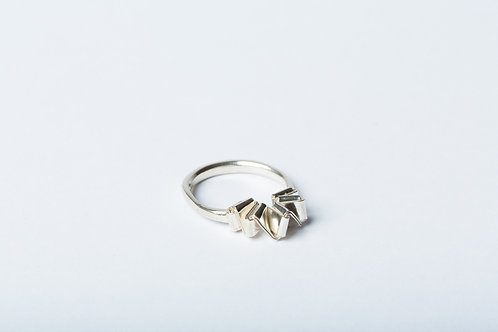 Ring, folded silver