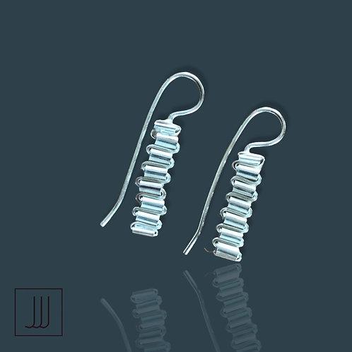 Folded Earrings in Silver