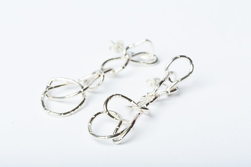 Silver Scribble Earrings