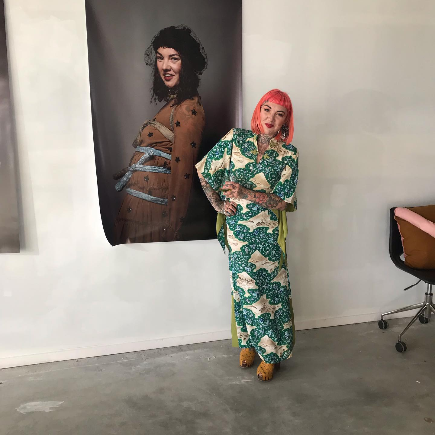 Claire Todd in front of her Image