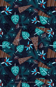 Pattern Winter Forest