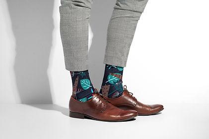 Winter Forest Socks