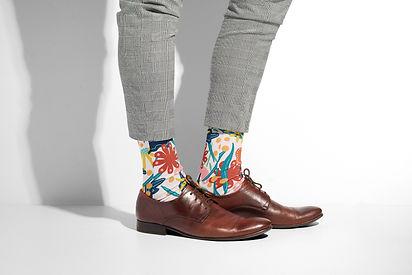 Spring Blossom Socks