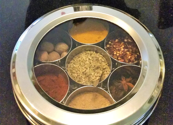 Authentic Indian Spice Tin with 7 Spices