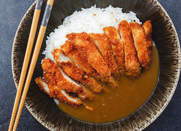 Katsu Curry With Boiled Rice