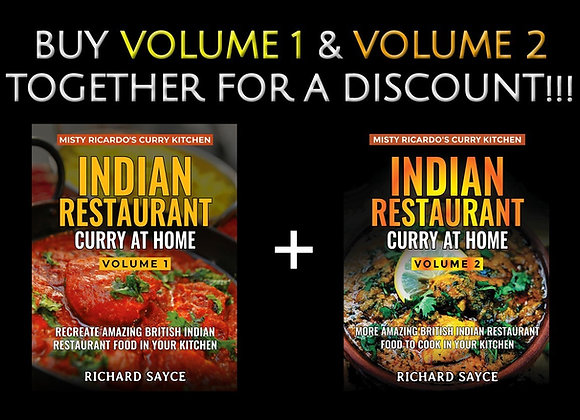 Misty Ricardo's Indian Restaurant Curry At Home Vols 1 + 2