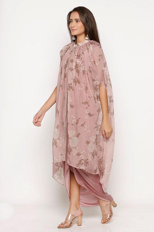 Drape Dress And Cape