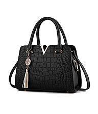 Handmade Crocodile Pattern Handbag