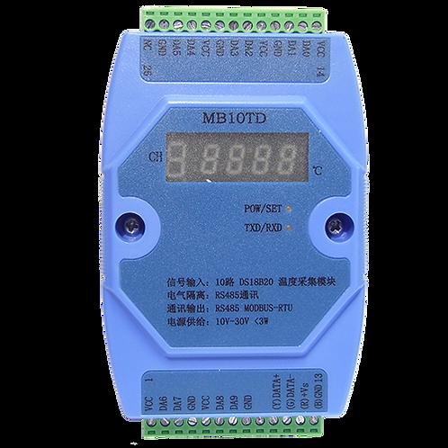 Модуль ввода MB10TD на 10 каналов датчиков DS18B20
