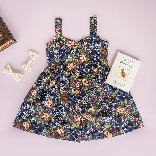 Lulu Dress (Linen Floral)