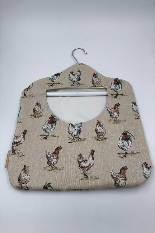 Peg Bag, Red Chickens G062
