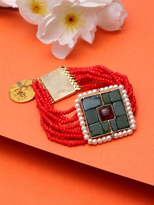 Emerald Tikra Bracelet