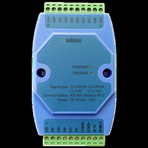 Модуль аналогового ввода MB8AI на 8 каналов 0-5В/0-10В/0-20мА/4-20мА