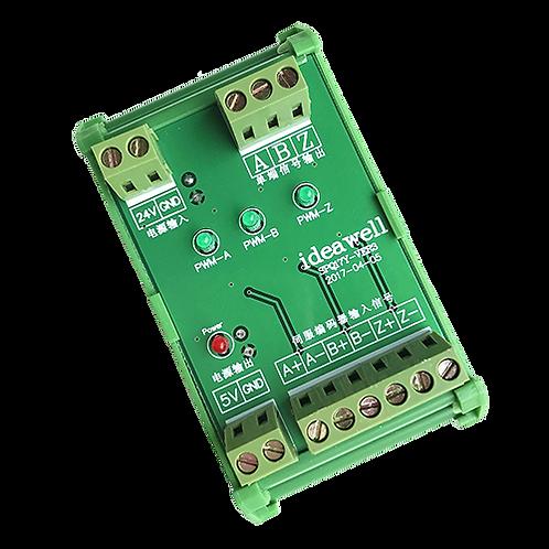 Преобразователь сигналов энкодера TTL-HTL 5В-24В IdeaWell SPQ15Y-VER3 (SPQ17Y-VE