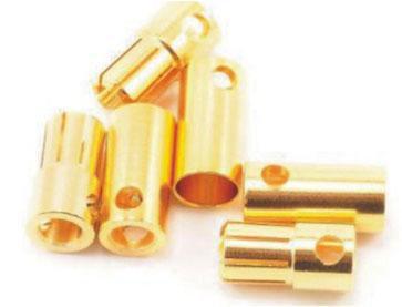 B001 6.0mm Gold Bullet Connector Banana Plug For ESC Battery Motor
