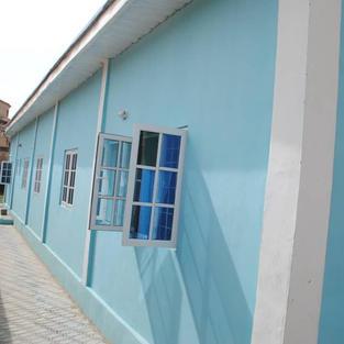 Back of school building