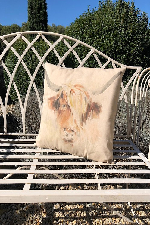 Cushion, Highland Cow C080