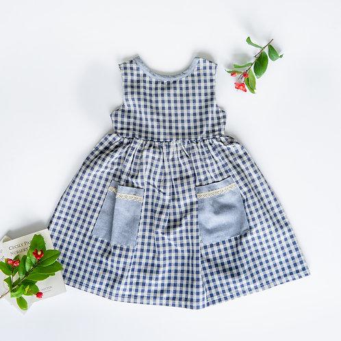 Elisa Dress Linen Checked