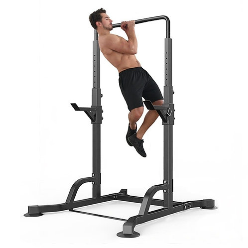 Multifunctional Power Tower Station Pull Up, Adjustable Squat Rack Stand