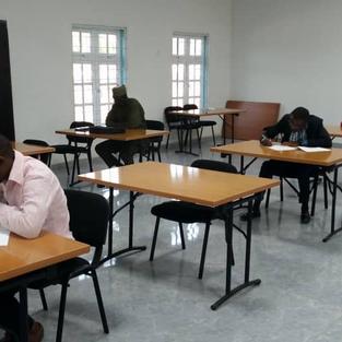 HBS Job applicants at an aptitude test