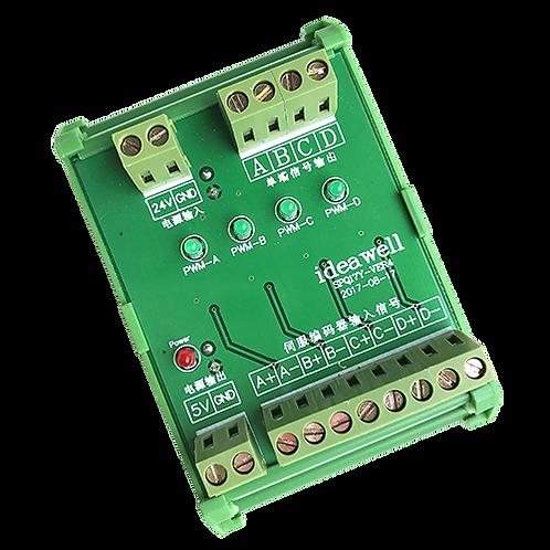 Преобразователь сигналов энкодера TTL-HTL 5В-24В IdeaWell SPQ17Y-VER4 4 канала