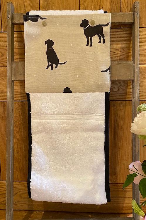 Roller Towel, Black Labrador E116