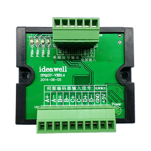 Преобразователь сигналов энкодера TTL-HTL 5В-24В IdeaWell SPQ13Y-VER4 4 канала