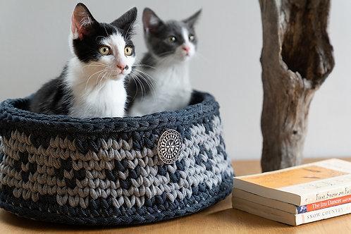 Grey-Denim Cottage Basket