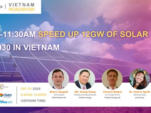 Speed up 12GW of solar by 2030 in Vietnam