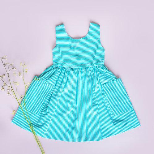 Daisy Dress Cotton Stripe