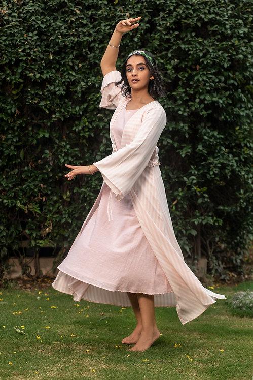Pink mat dress
