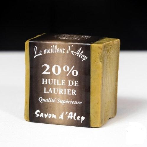 Savon d'Alep 20% huile baie laurier 190 gr