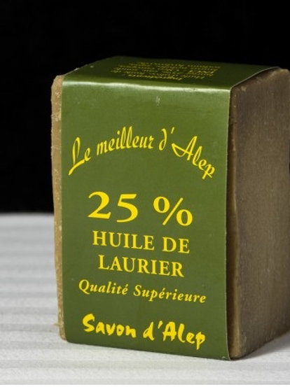 Savon d'Alep 25% huile baie laurier 190 gr
