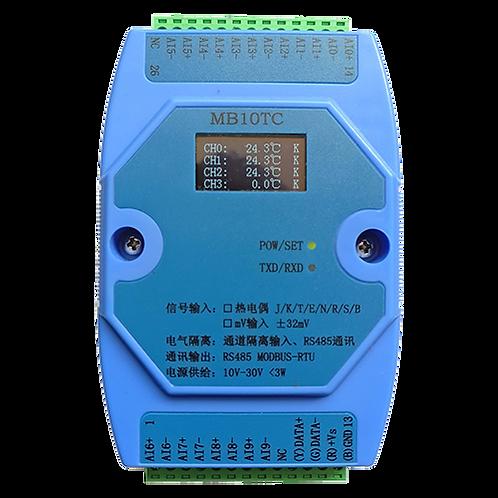Модуль ввода MB10TC на 10 каналов термопары J,K,T,E,R,S,B,N