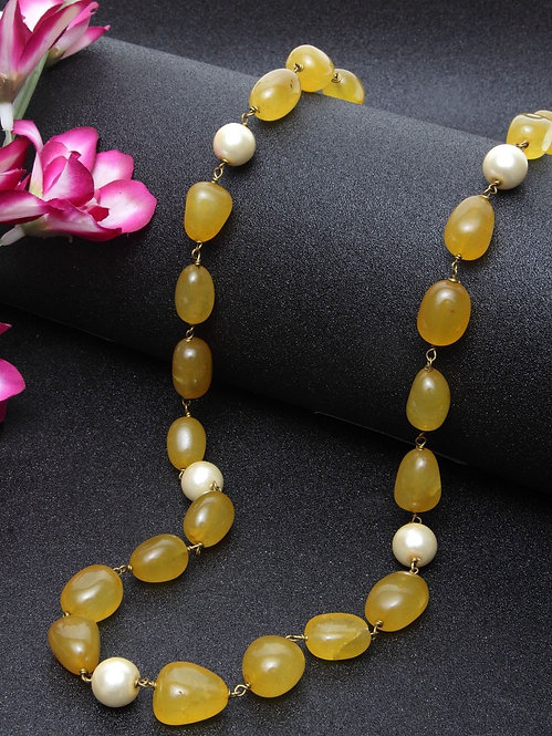 yellow sapphire peal string
