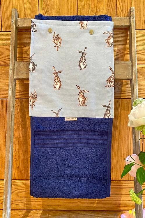 Roller Towel, Blue Hare E114