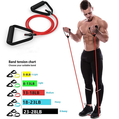 5 Levels Resistance Bands with Handles for Home Workouts