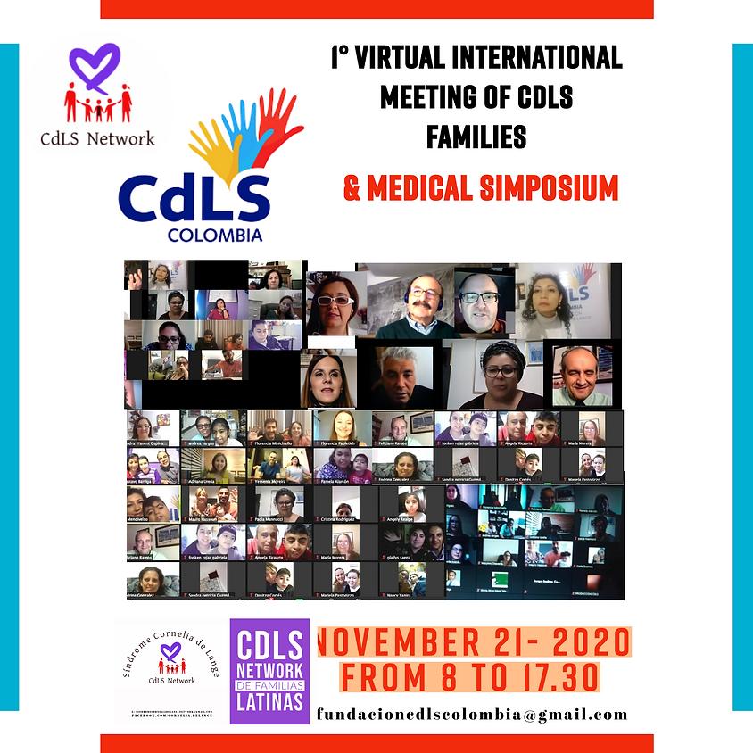 1 ° פגישה וירטואלית למשפחות CdLS וסימפוזיון רפואי